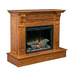 Amish Custom Crafted Solid Wood Fireplace