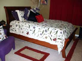 Amish Made Custom Cherry Sleigh Bed