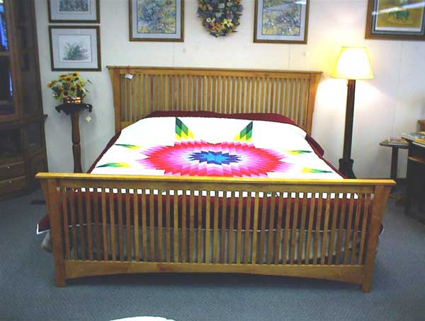 Amish Made Stickly Style Mission Bed
