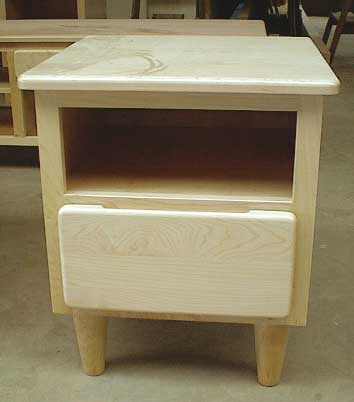 Custom Amish Made Maple Mission Nightstand or Endtalble