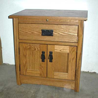 Custom Amish Made Oak Shaker Nightstand or Endtalble