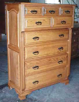 Custom Amish Made Oak Chest on Chest