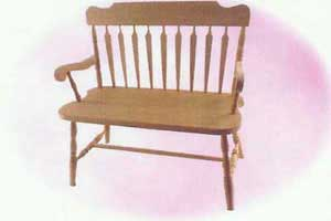 Amish Made Deacon Bench