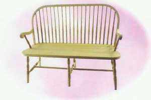 Amish Made Round Spindle Bench