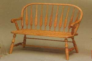 Amish Made Feather Bench