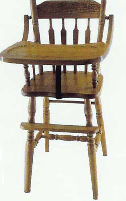 Amish Made Children's Arrow High Chair