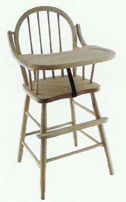 Amish Made Children's Spindle Back High Chair