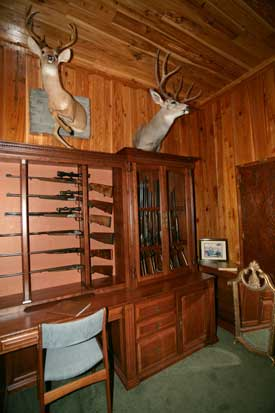 Locally Amish Custom Made Gun Cabinet Wall Unit Closer Look