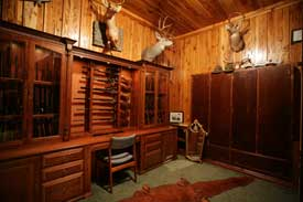 Locally Amish Custom Made Gun Cabinet Wall Unit