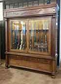 Amish Custom Crafted Antique Gun Cabinet Reproduction