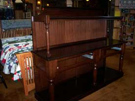 Cherry Buffet with Display Shelf