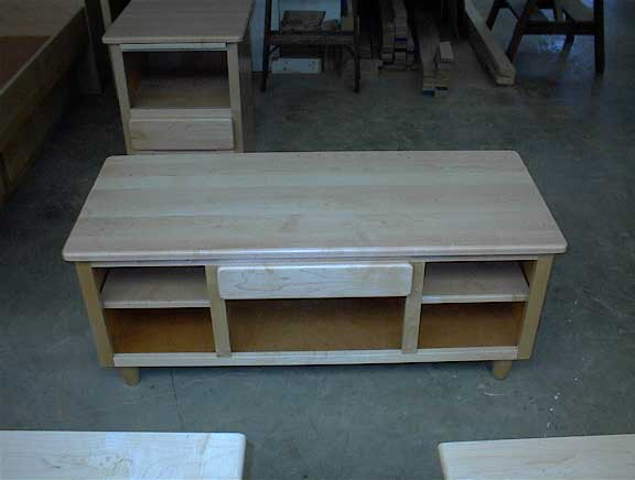 Locally Amish Custom Made Natural Oak Cofffee Table