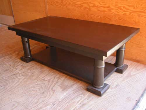 Locally Amish Custom Crafted Dark Stain Coffee Table