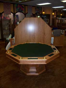 Full view Cherry Poker Table