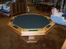 Solid Cherry Custom Poker Table
