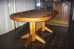 Locally Custom Made Texas Hold 'em Table