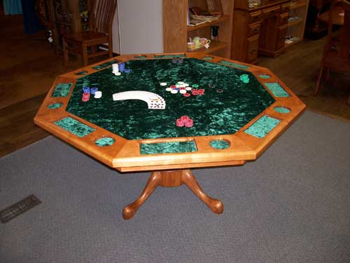 Locally Amish Custom Made Poker Table made in Cherry