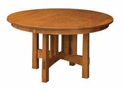 Round dining table with 4 legs - Amish made