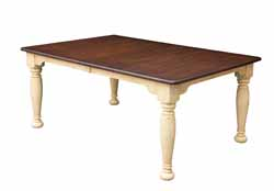 Belleville table in two tone finish
