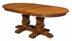 Bradbury double pedestal oval Amish made table