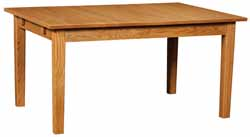 Christy Amish made fixed leg dining table
