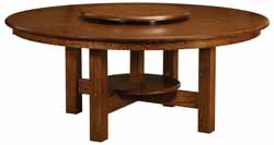 Amish made round table with 4 legs