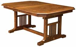 Amish made mission style dining table