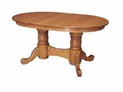 Traditional plain foot Amish made oval dining table