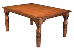 Amish made french farmhouse corner leg table