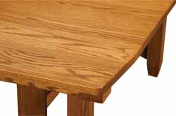 Amish made Kensington table top shown in oak
