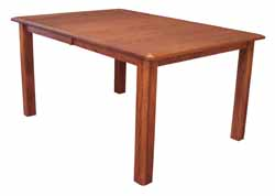Traditional mission leg dining table