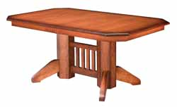 Mission double pedestal dining table