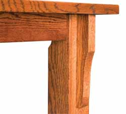 Old Harbor dining table leg detail