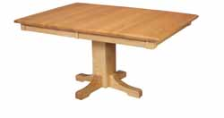 Mission single leg dining table