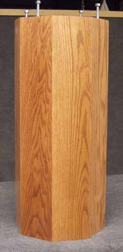 Amish made mission dining table pedestal detail