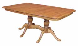 Square round corners queen anne foot dining table