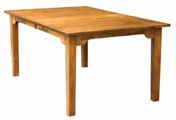 Shaker style custom dining table by Amish craftsmen