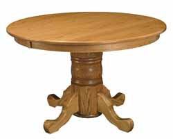 Standard single pedestal Amish made dining table
