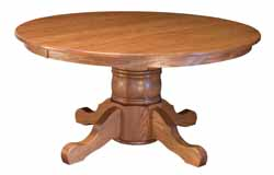 Traditional Amish made single pediestal dining table