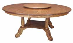 Traditional round Amish made table