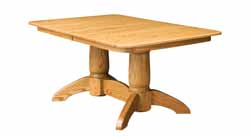 Tuscan double pedestal oak dining table