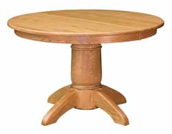 Tuscan single pedestal oak dining table - Amish made
