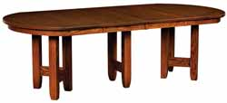 Westbrook dining table with three leaves in place