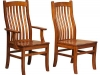 Amish made Arts & Crafts Side and Arm Dining Chairs
