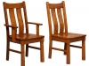 Amish Beaumont Side and Arm Dining Room Chairs